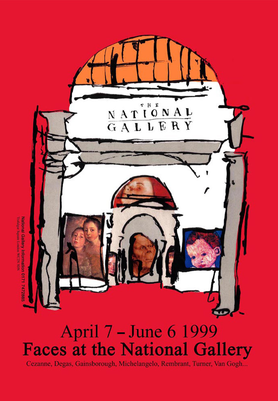Faces at the National Gallery Poster
